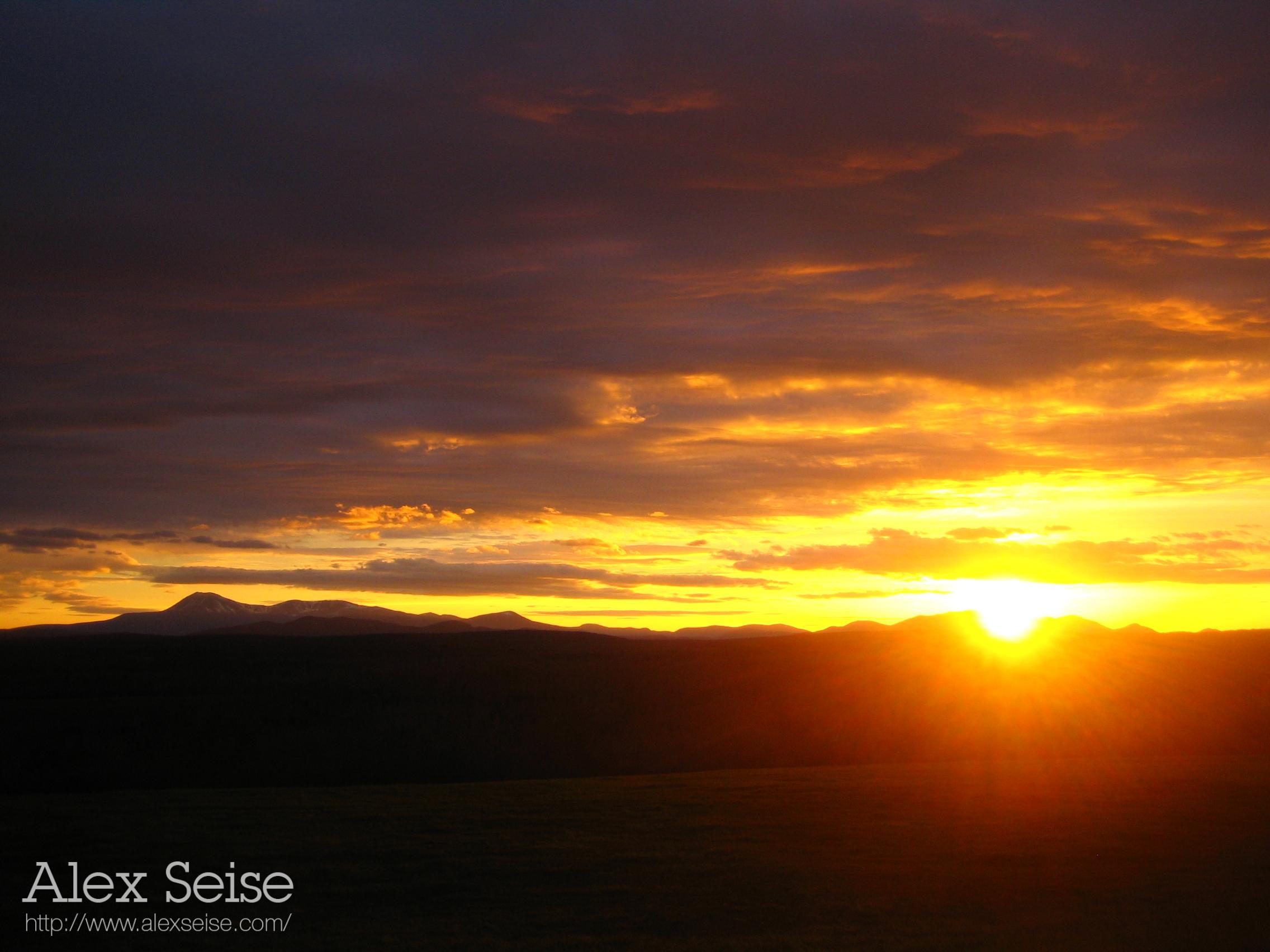 Sunset over Mount Katahdin