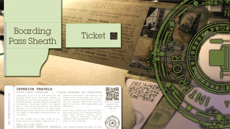Branded Boarding Pass & Ticket