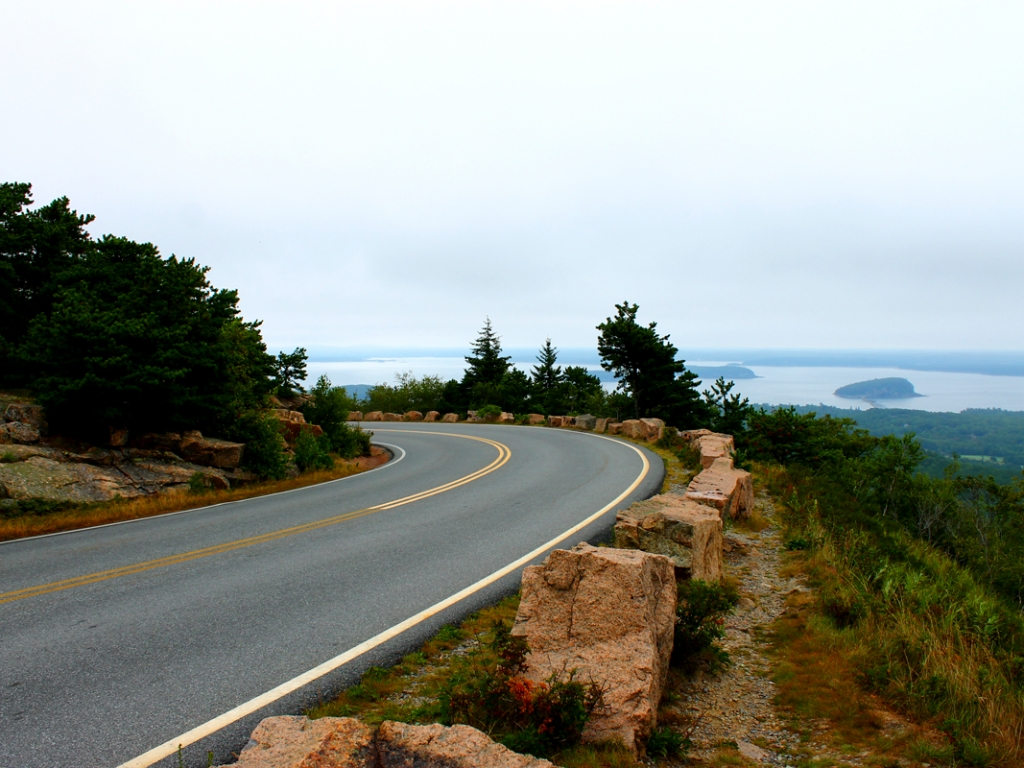 The Road Up Cadillac Mountain